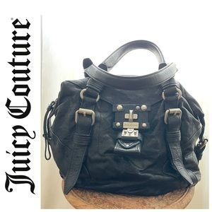 Juicy Couture leather shoulder purse with metal detailing
